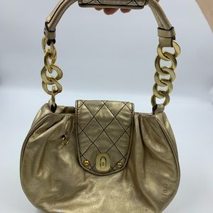 Juicy Couture Purse Handbag Hobo Gold Quilted